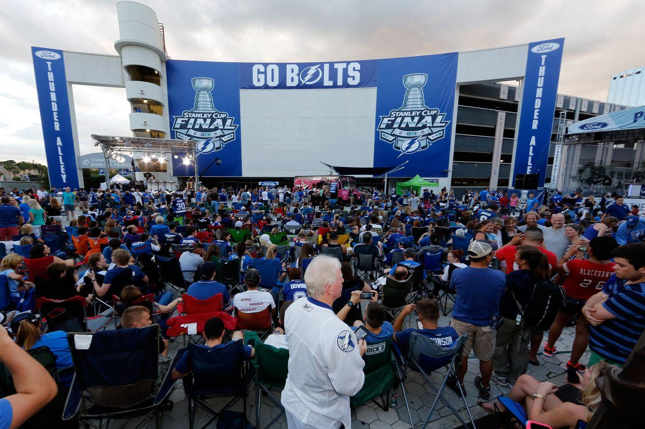 Lightning Game 7 public viewing party canceled amid declining NHL playoff TV ratings