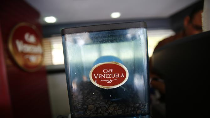 Coffee beans are seen at state-run Cafe Venezuela in Caracas