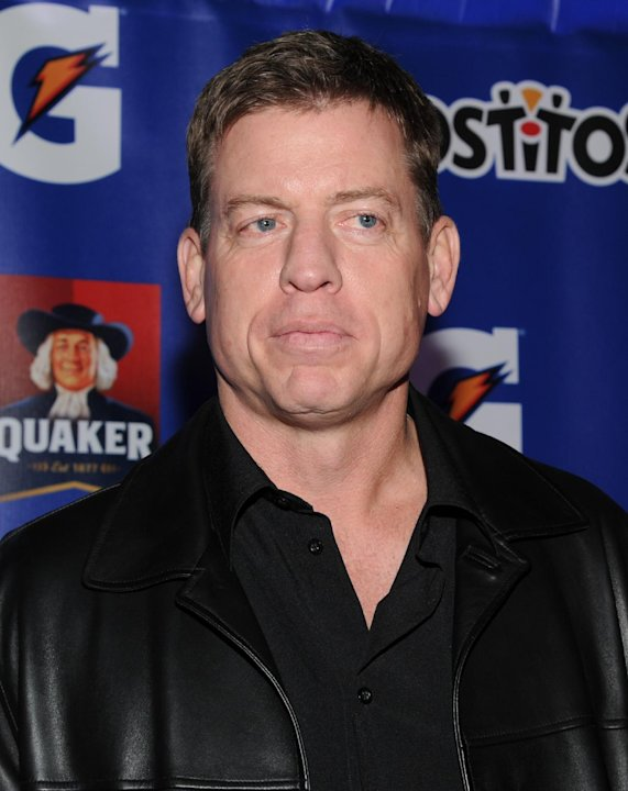 Former NFL player Troy Aikman attends at the PepsiCo Pre-Super Bowl Party, at Masquerade Night Club, on Friday, Feb. 1, 2013 in New Orleans. (Photo by Evan Agostini/Invision for PepsiCo/AP Images)