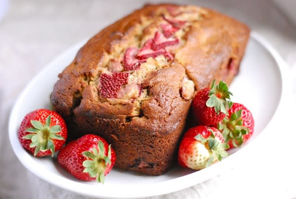 Whole Grain Strawberry Banana Bread