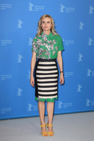 Diane Kruger isn't afraid to mix prints! (Away!/PR Photos)