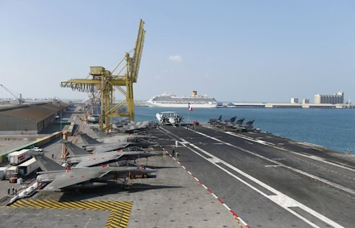 French Charles De Gaulle aircraft carrier