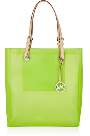 Michael Kors Jet Set Leather and Rubber Tote
