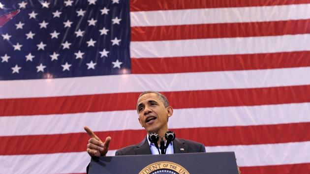 Barack Obama speaks during a campaign rally in Cincinnati, Ohio, on November 4, 2012 -- AFP