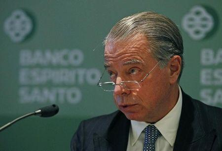 Portuguese Bank Espirito Santo's CEO Salgado announces their 2011 results during a news conference in Lisbon