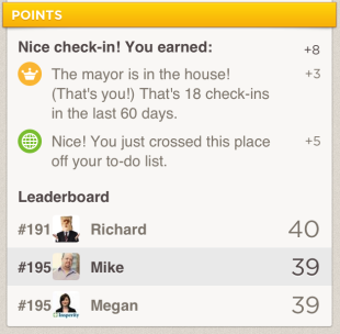 Foursquare Needs to Revive Gamification! image Foursquare Points