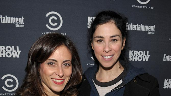 "Entertainment Weekly Associate Publisher, Advertising Sales, Melissa Mattiace, left, and actress/comedian Sarah Silverman attend an exclusive screening of Comedy Central's ""Kroll Show"" hosted by Entertainment Weekly on Tuesday, January 15, 2013 at LA's Silent Movie Theatre in Los Angeles. (Photo by John Shearer/Invision for Entertainment Weekly/AP Images)"