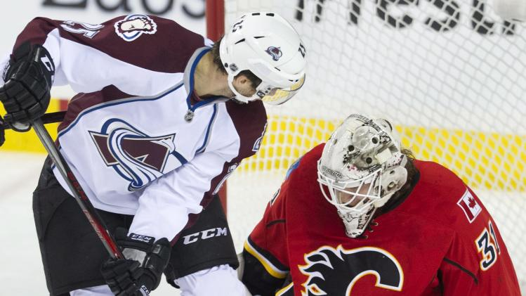 Talbot leads Avalanche past Flames 3-2