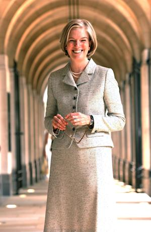 "This undated image made available by NewsCast shows Pearson chief executive Marjorie Scardino in London. Pearson PLC, the U.K. publisher and education company, said Wednesday Oct. 3, 2012 that chief executive Marjorie Scardino has decided to step down. Scardino, aged 65, has been chief executive since 1997 — managing the company through a time of significant change in the media world. She led Pearson's transformation from a diverse conglomerate to a ""learning company"" and helped raise its profile in the United States. The publisher of the Financial Times and Penguin Group books said Wednesday it expects more than half its revenues to come from digital and services businesses for the first time this year.  (AP Photo/NewsCast. HO)"