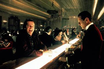 Jack Nicholson and Joe Turkel in Warner Brothers' The Shining