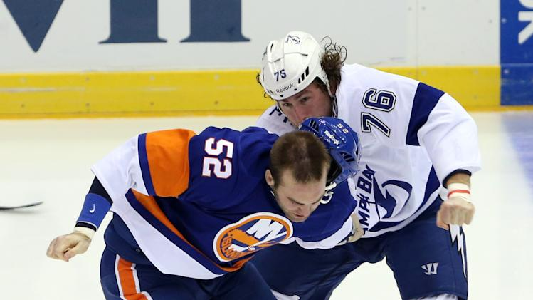 NHL: Tampa Bay Lightning at New York Islanders