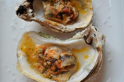 Grilled (Or Broiled) Oysters with a Sriracha-Lime Butter