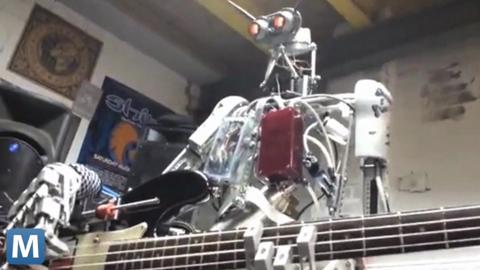 Compressorhead Jams with Robotic Precision