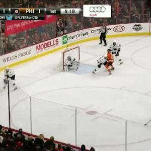 Alex Stalock Save on Sean Couturier (14:43/1st)