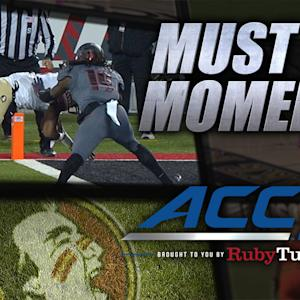 FSU's Jameis Winston Threads the Needle to Ermon Lane | ACC Must See Moment
