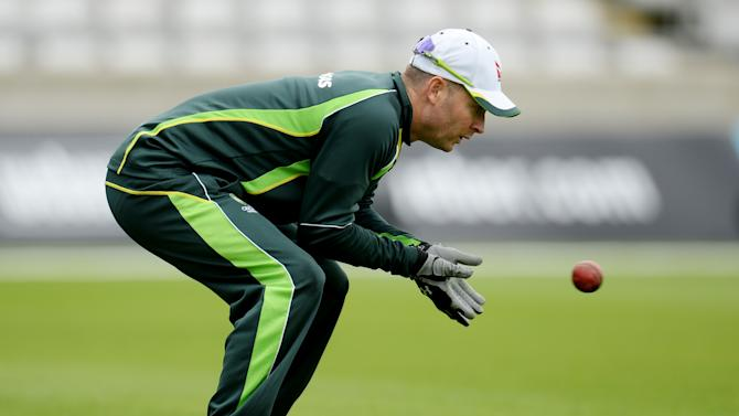 Australia's Michael Clarke during nets