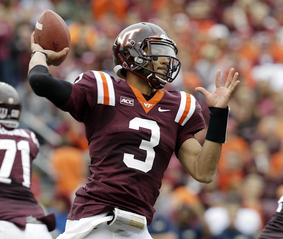 No. 24 Virginia Tech sacks Pittsburgh, 19-9