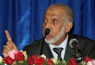 <p>Abdelaziz Belkhadem speaks during a meeting of the FLN in Algiers on January 31, 2013. The central committee of Algeria's ruling party relieved its chief Belkhadem of his duties on Thursday, in the FLN's biggest internal crisis for a decade, an AFP journalist reported.</p>