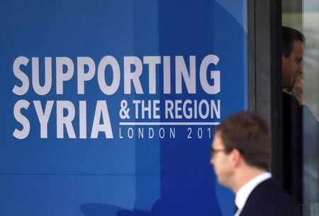 Billions pledged for Syria as tens of thousands flee bombardments