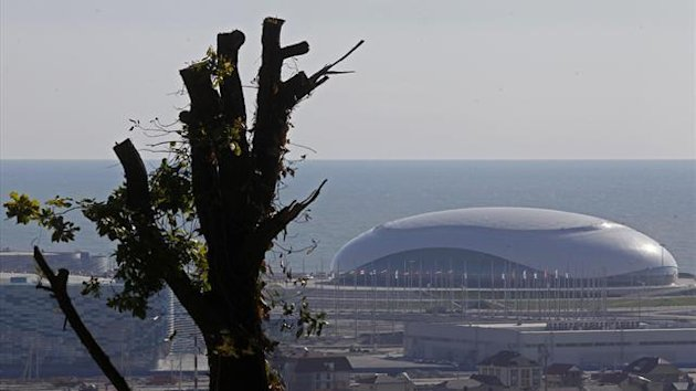 The Bolshoy Ice Dome is seen in the background in Sochi, generic (Reuters)