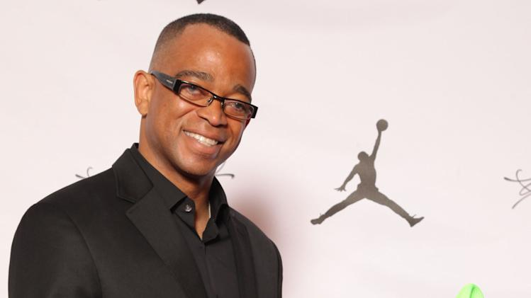 IMAGE DISTRIBUTED FOR JORDAN BRAND - Stuart Scott is seen at the Jordan Brand party celebrating Michael Jordan's birthday on Friday, February 15, 2013 in Houston, TX.  The Jordan Brand launched its Air Jordan XX8 in Houston on the same day.  (Photo by Omar Vega/Invision for Jordan Brand/AP Images)
