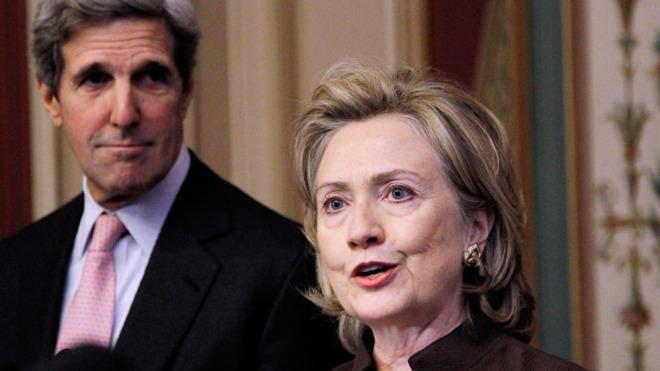 Kerry hasn't stayed in Clinton's shadow as secretary of state.