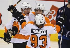 Flyers beat Jets 3-2