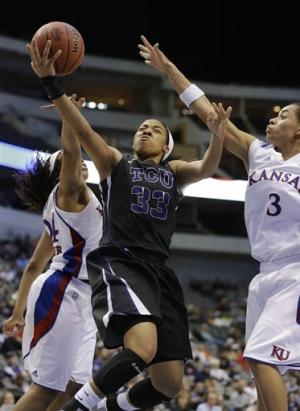 Kansas women eliminate TCU 83-61