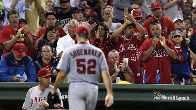 Angels complete sweep with 2-0 win at Boston