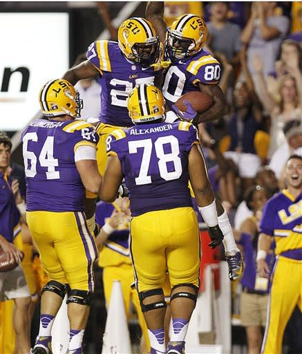 No. 3 LSU defeats winless Idaho 63-14