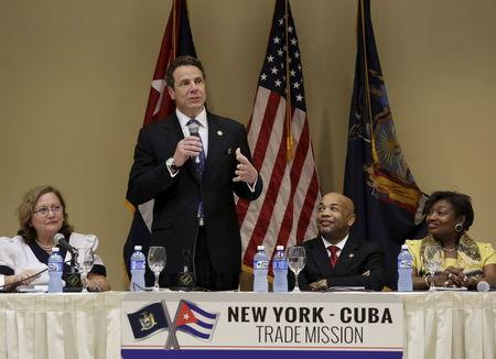 In Cuba, New York Governor Cuomo seeks to open doors to trade