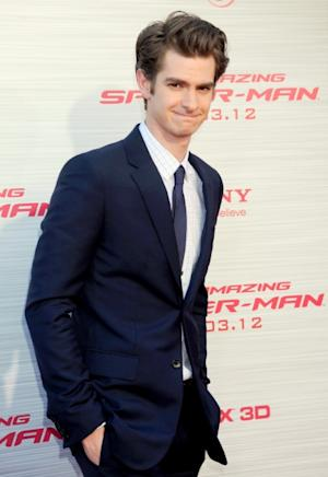 Andrew Garfield is seen at 'The Amazing Spiderman' Los Angeles Premiere at Regency Village Theatre in Westwood, Calif. on June 28, 2012 -- Getty Premium