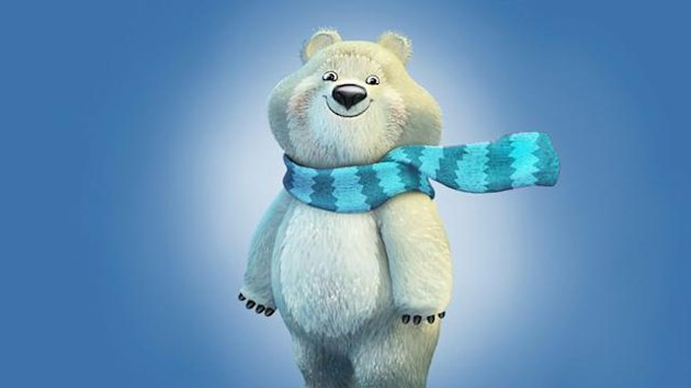 Illustration of the Polar Bear, one of three mascots for the 2014 Sochi 2014 Olympic Winter Games