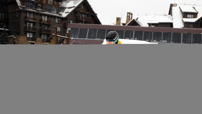 IMAGE DISTRIBUTED FOR THE RITZ-CARLTON REWARDS/E CREDIT CARD FROM J.P. MORGAN - Card members of The Ritz-Carlton Rewards/E Credit Card from J.P. Morgan enjoyed an exclusive ski instruction session with Olympic gold-medalist Jonny Moseley  at The Ritz-Carlton Bachelor Gulch on Beaver Creek Mountain in Avon, Colo., on Friday, Jan. 25, 2013. Ritz-Carlton card members who attended the private ski experience enjoyed a weekend at The Ritz-Carlton Bachelor Gulch, access to Beaver Creek and a dinner at Spago with Wolfgang Puck. (Photo by Jack Dempsey/Invision for The Ritz-Carlton Rewards/E Credit Card from J.P. Morgan/AP Images)
