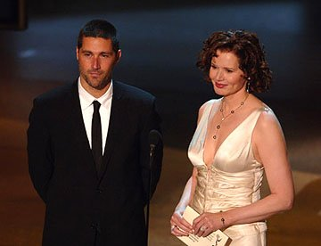 Matthew Fox and Geena Davis