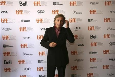 "Mortensen poses at the gala presentation for the film ""Everybody Has a Plan"" at the 37th Toronto International Film Festival"