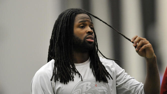 Baltimore Ravens wide receiver Torrey Smith walks off the field after NFL football practice at the team's training facility in Owings Mills, Md., Saturday, Jan. 26, 2013. The Ravens are scheduled to face the San Francisco 49ers in Super Bowl XLVII in New Orleans on Sunday, Feb. 3.  (AP Photo/Gail Burton)