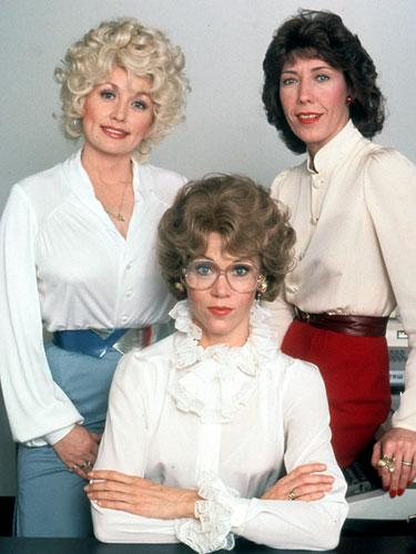 Dolly Parton, Jane Fonda and Lily Tomlin in Nine to Five, 1980