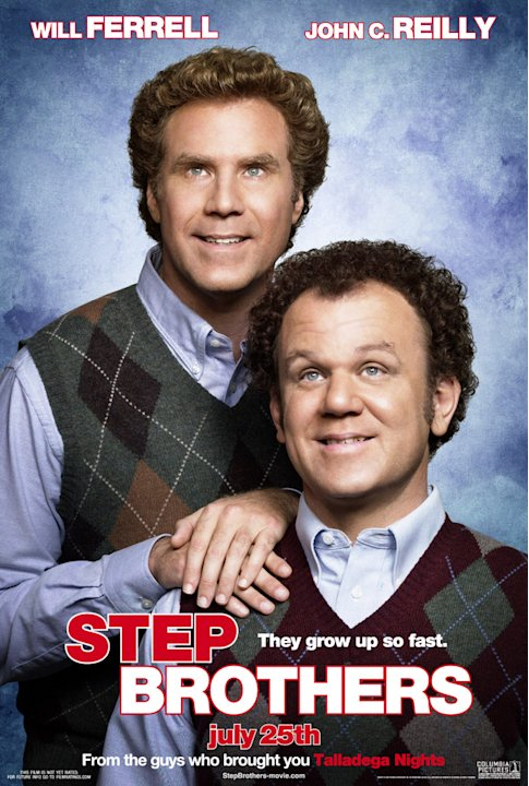 Poster Will Ferrell John C. Reilly Step Brothers Production Sony 2008