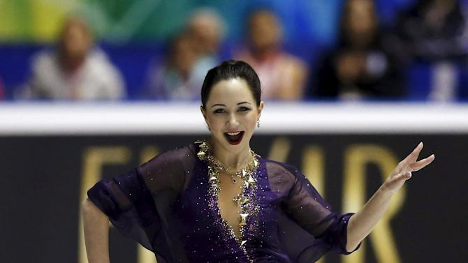 Tuktamysheva of Russia competes during the ladies' free skating program at the ISU World Team Trophy in Figure Skating in Tokyo