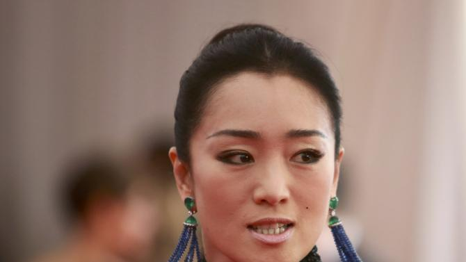 """Actress Gong Li arrives for the Metropolitan Museum of Art Costume Institute Gala 2015 celebrating the opening of """"China: Through the Looking Glass,"""" in Manhattan"""