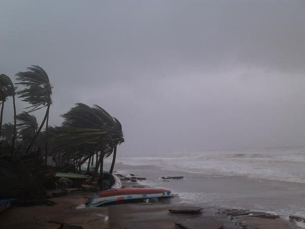 Cyclone Thane in Puducherry