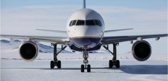 History Is Made: 757 Plane Lands on Icy Antarctic Runway