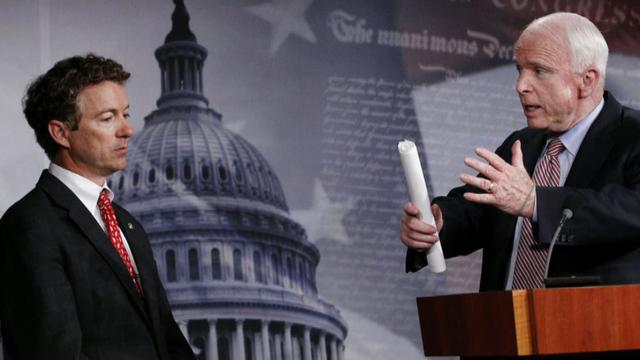 "McCain on 2016: ""Tough choice"" between Clinton and Rand Paul"