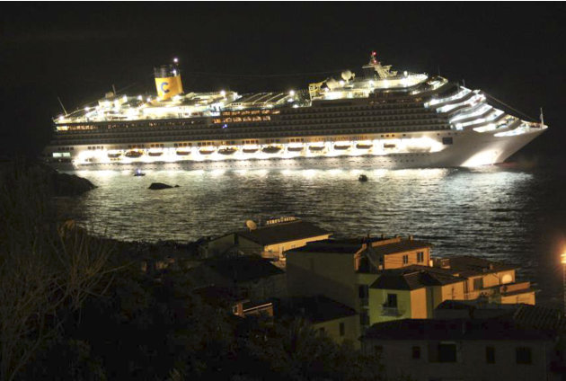 The luxury cruise ship Costa …