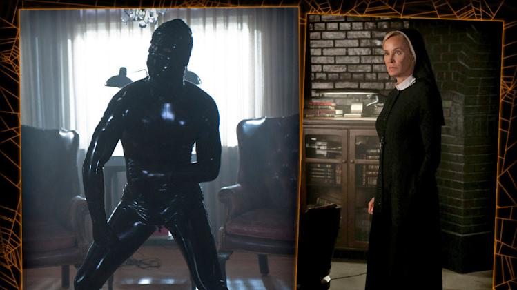 American Horror Story: rubbersuit man, nun