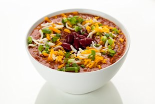 Chili is a game-time staple. Try a veggie version!