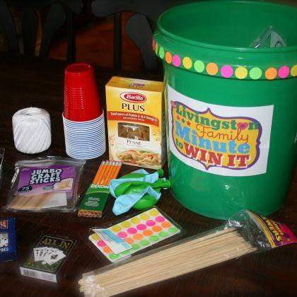 Make Your Own Minute To Win It Bucket