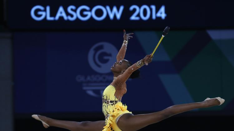 South Africa's Grace Legote performs at the Commonwealth Games in Glasgow