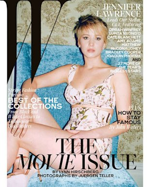 Jennifer Lawrence on W's February Cover, Shot by Juergen Teller.